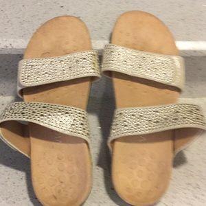 Vionic gold adjustable sandals